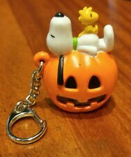 Vintage Halloween. 10 Key Chains with Snoopy and Woodstock atop a Pumpkin!!