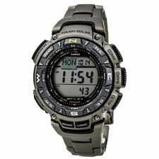 Casio Men's Pro Trek Pathfinder Solar Power Digital Titanium Watch PAG240T-7