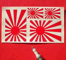 JAPANESE RISING SUN FLAG set of 4 Stickers