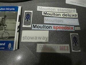 MOULTON decal sets