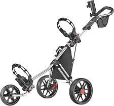 NEW CaddyTek Deluxe 3 Wheel Golf Push Cart Version 3 CaddyLite 11.5 V3 Silver✅