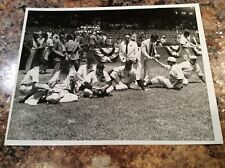 1939 All Star AL Bob Feller Type 1 Photo Ny Yankees Lou Gehrig ? Wm Greene