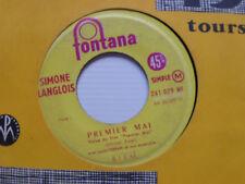 "SIMONE LANGLOIS: Premier mai / mon vieux quartier - 7"" JUKE-BOX FONTANA 261079"