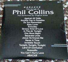 PHIL COLLINS 1980'S KARAOKE CDG DISC BACKSTAGE KARAOKE - AGAINST ALL ODDS