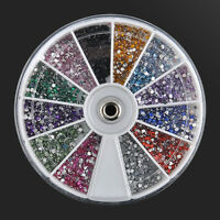 Nail Art 3600pcs 1.5mm Rhinestones Glitter Decoration 3D Tips Diamond Gem Wheel