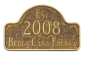 Historical Circa, Built, Est Address Plaque Lawn House Sign Numbers Wall Custom