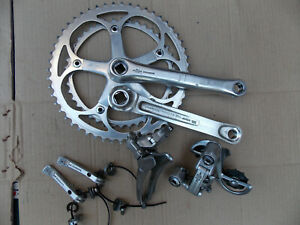 Vintage Shimano Golden Arrow components.Front and rear changer,shifters,crank.