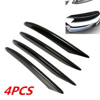 4Pc Glossy Front Fog Light Decorative Cover Trim For 15-18 Mercedes-Benz C Class