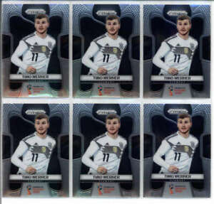 LOT OF (6) TIMO WERNER 2018 PANINI PRIZM WORLD CUP #98 TEAM GERMANY BASE FC8011