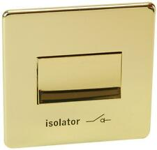 Crabtree 7017PB Platinum Fan Isolating Switch, Polished Brass