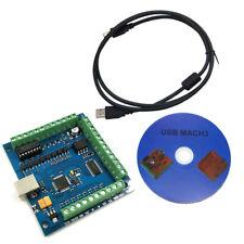 Mach 3 4-Axis USB CNC Controller Scheda Liscio Step Movimento 100KHz 12-24V Dc