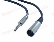 6ft feet 3pin XLR Male to 1/4 MONO TS Plug Mic Microphone Cable Cord(X1-4N1-06)