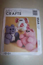 McCALL'S CRAFTS  PATTERN 2544 NEW IN PACKAGE CAT ELEPHANT BEAR STUFFED