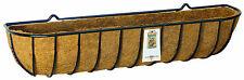 "90cm (36"") Heavy Duty Wrought Iron Wall Trough - Wall Basket - Window Box"