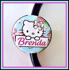 Hello Kitty CUSTOM Name STETHOSCOPE ID Tag