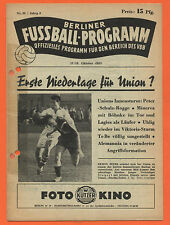 Orig. PRG 17.10.1953 Berlin contract League-All games, brackets, etc.