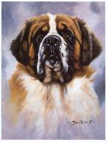 St SAINT BERNARD DOG FINE ART LIMITED EDITION PRINT - by John Trickett