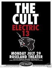 The Cult / Electric 13 / 2013 Portland Concert Tour Poster-Alternative Hard Rock