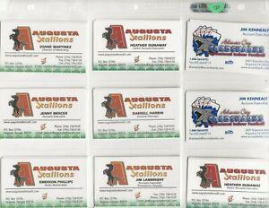 (108) ASSORTED ARENA / INDOOR / WOMEN'S PRO FOOTBALL BUSINESS CARDS  NICE  LOOK