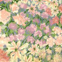 2 Yards Vintage Floral Chintz Fabric 1989 Cyrus Clark Mille Fleur
