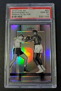 2010 2011 Leaf Ali Muhammad Ali #82 Prismatic Sliver 76/125 PSA 10 POPULATION 1