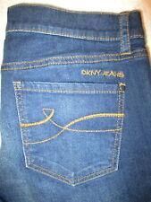 DKNY Skinny Stretch Womens Dark Blue Denim Jeans Size 4 x 30.5 Mint