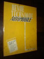 REVUE TECHNIQUE AUTOMOBILE - N° 179 - Mars 1961 - Fiat 500 et 500 D Citroën 2 cv