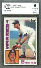 1984 Topps #8 Don Mattingly Yankees Rookie Card BGS BCCG 9