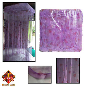 Mosquito Net Double Bed Size Home Bending Lace Canopy Elegant Flower Patterns