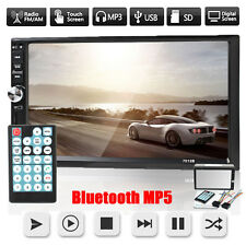 "Double 2 Din 7"" Car Touch Screen Stereo MP5/MP3/USB/FM Player HD Bluetooth Radio"