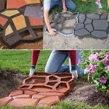 DIY Plastic Garden Path Maker Mold Paving Cement Brick Mould Ornament Stone Road