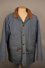 LL Bean Mens XL BLUE Quilted Thinsulate Lined Chore Barn Field Jacket Coat