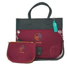 NEW Deb Eiseman Harmony Recyclable Eco Friendly Tote + Cosmetic Makeup Bag Set