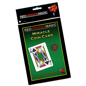 Miracle Coin Card - Easy Close Up Card Magic Trick - Bicycle Stock - SEE VIDEO