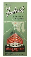 Francis Scott Key Hotel Frederick MD Brochure Advertising Ephemera 1950's NICE