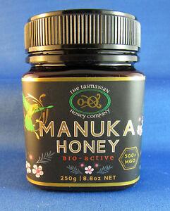Tasmanian Manuka Honey,  Natural Activity, MGO 500+, 250gms, free shipping