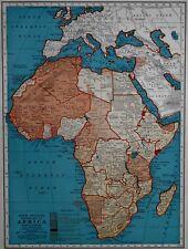 RARE Vintage 1941 Atlas Map World War WWII Africa & Europe Mediterranean L@@K!