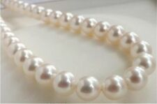 "HUGE AAA 10-11MM PERFECT ROUND SOUTH SEA GENUINE WHITE PEARL NECKLACE 25"" 14K"