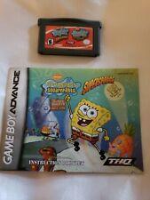 SpongeBob SquarePants: SuperSponge Nintendo GameBoy Advance GBA & Manual