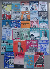 SELECTION OF 28 ASSORTED SONG SHEETS.