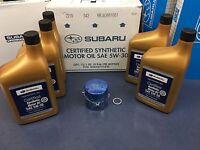 Genuine SUBARU Oil Change Kit Filter Gasket 5 Qts Synthetic 5W30 Turbo WRX STI +
