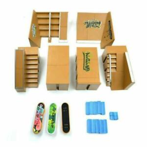Ultimate Skate Park Ramp Parts With 3 Tech Deck Fingerboard Finger Board Toys