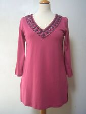 Boden beaded jersey tunic 10 VGC