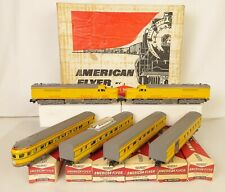"""AMERICAN FLYER #20535 UNION PACIFIC """"PONY EXPRESS"""" PASSENGER SET-EX. W/ALL OB'S!"""