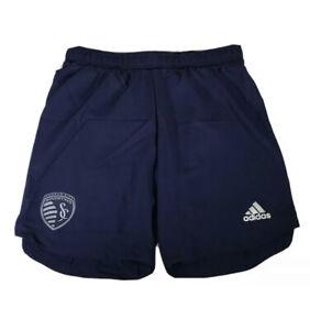 Men's Adidas AeroReady MLS Kansas City Sporting Soccer Shorts Sz XL EH6254 NEW