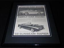 1958 Sunbeam Rapier Framed 11x14 ORIGINAL Vintage Advertisement