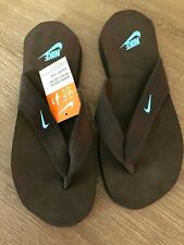 Women's Nike South Beach Celso Flip Flops - Brown Blue Size 11 -  Rare Find!