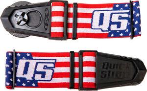Roko Goggle Quick Straps Release Helmet Motorcycle ATV Motocross American Flag