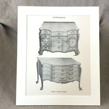 1900 Chippendale French Commode Antique Print Furniture Design Art
