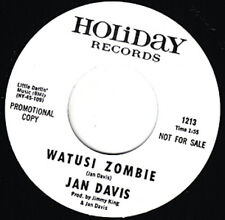 "JAN DAVIS Watusi Zombie HOLIDAY Re. 7"" Monster 1964 Mad Mike Halloween R&B HEAR"